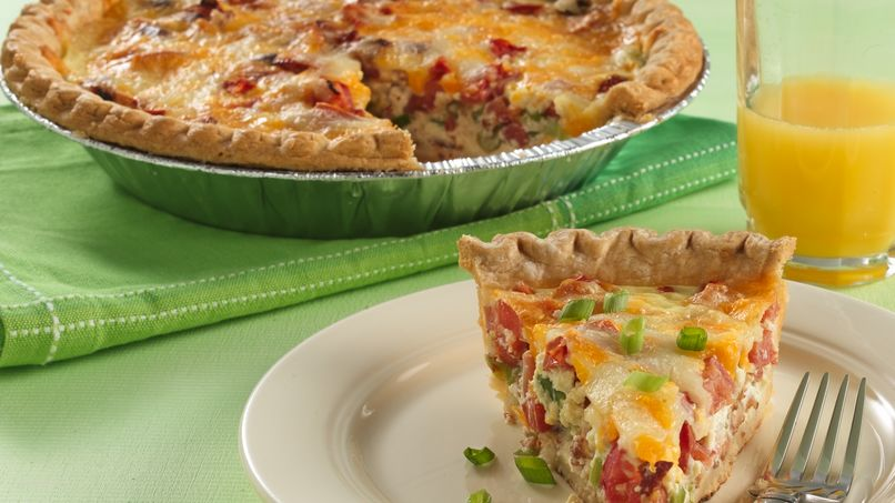 Tomato-Bacon Quiche