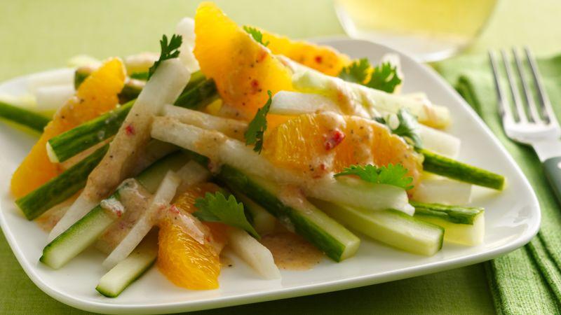 Gluten-Free Spicy Jicama and Orange Salad