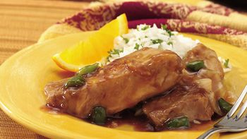 Slow-Cooker Orange-Glazed Country Ribs
