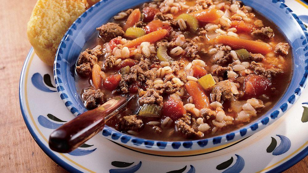 Turkey-Barley-Tomato Soup