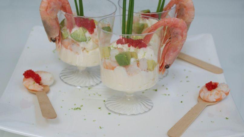 Cóctel de Camarones con Alioli