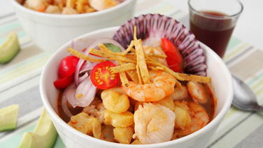 Shrimp and Scallop Pozole