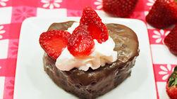 Corazones de Chocolate Rellenos de Dulce de Leche