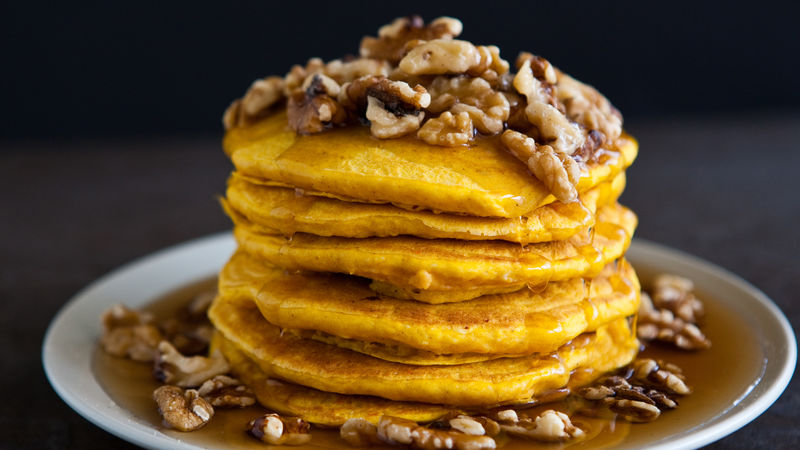 Pumpkin Bourbon Pancakes