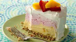 Strawberry-Mango Ice Cream Cake