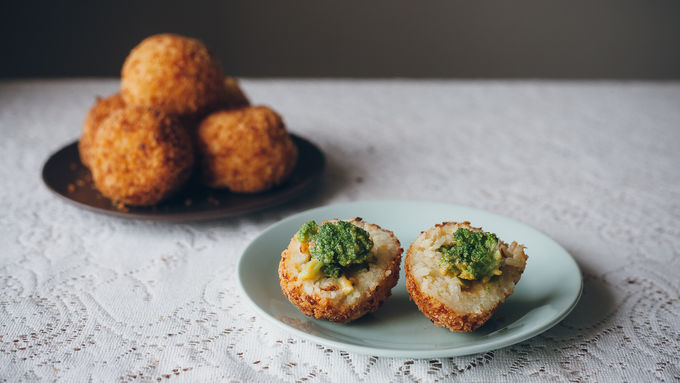 Cheesy Broccoli Arancini