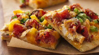 Mexican Chicken Pizza with Cornmeal Crust