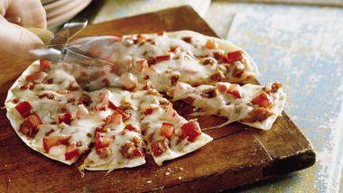 Barbecued Chicken Tortilla Pizzas