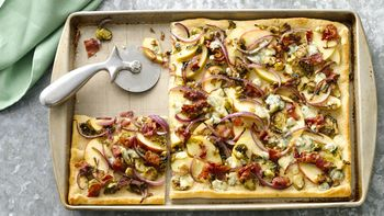 Bacon and  Brussels Sprouts Pizza