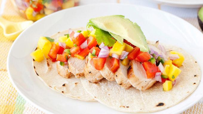 Santa Fe Grilled Chicken with Mango Salsa