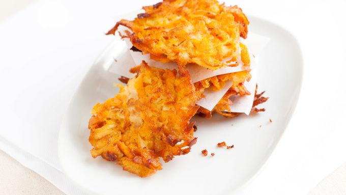 Sweet Potato-Apple Latkes