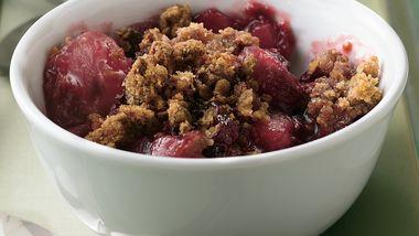 Raspberry-Pear-Granola Crisp