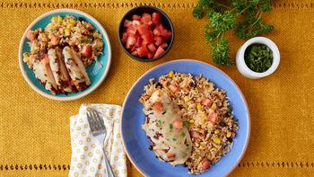 Southwestern Corn and Chicken Bake