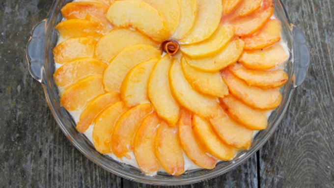 Peach No-Bake Cheesecake