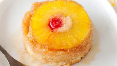 Boozy Mini Pineapple Upside Cakes