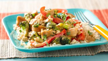 Gluten-Free Spicy Peanut Chicken Stir-Fry