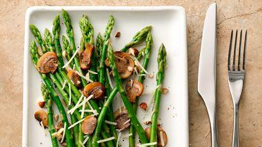 Hazelnut Parmesan Asparagus