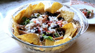 Baked Nachos with Turkey