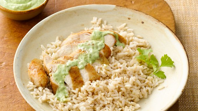 Gluten-Free Spice-Dusted Chicken with Creamy Avocado Sauce