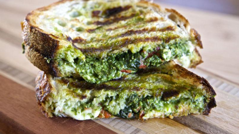 Panini de Pesto y Mozzarella
