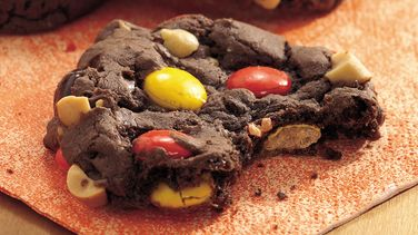 Peanutty Chocolate Candy Cookies