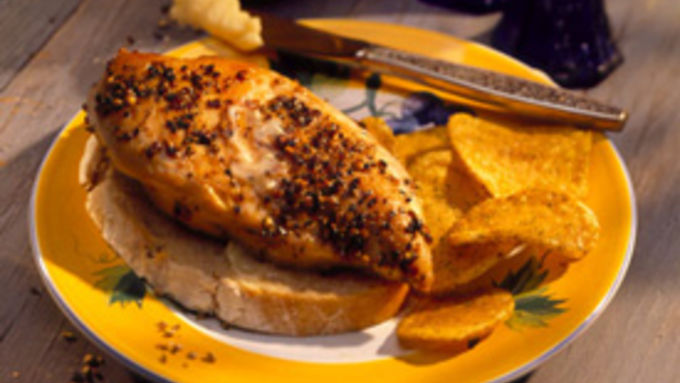 Two-Pepper Chicken with Honey Butter