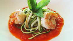 Zucchini Pasta and Shrimp