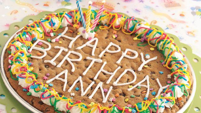 Big Birthday Cookie (cookie dough tub)