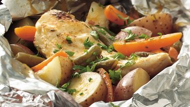 Grilled Paprika Chicken Dinner Foil Packs