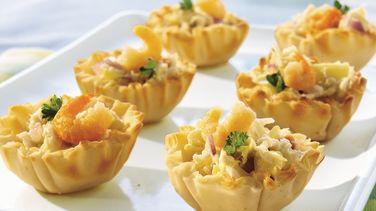 Tartaletas de Ensalada de Mariscos