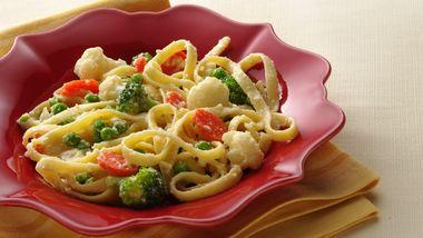 Fettuccine and Vegetables Parmesan