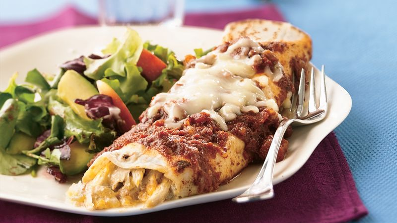Turkey-Green Chile Enchiladas