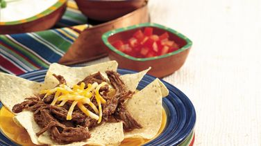 Slow-Cooker Shredded Beef Nachos