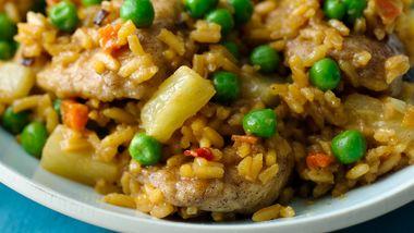 Caribbean Chicken Fried Rice