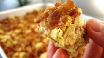 Ultimate Brown Butter Cereal Bars with Candied Bacon