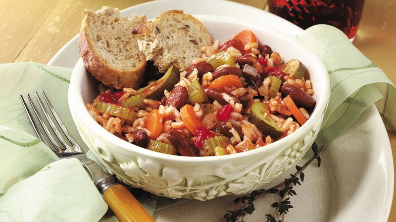 Italian Rice and Veggie Supper