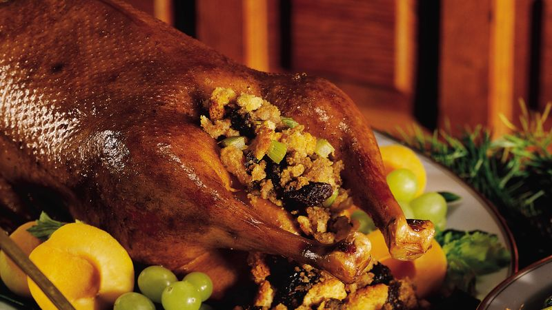 Roast Goose with Chestnut-Prune Stuffing