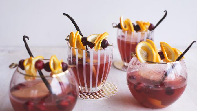 Slow-Cooker Warm Winter Rosé Sangria