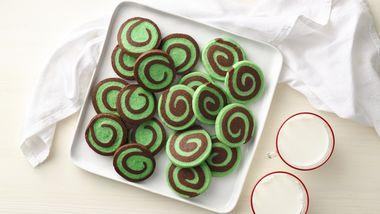 Chocolate Mint Pinwheels