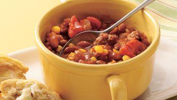 Beefy Bean and Corn Chili