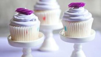Lavender Colored Cupcakes