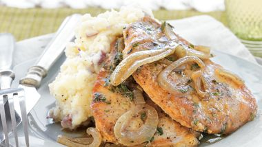 Pork Chops with Tarragon-Onion Gravy
