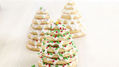 3D Christmas Tree Cookie Stacks