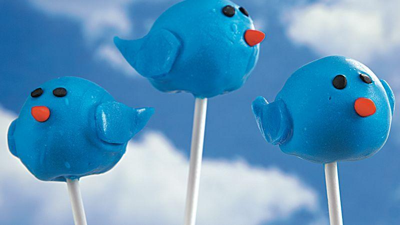 Bluebird Cake Pops