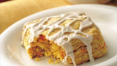 Glazed Sweet Potato Biscuit Squares