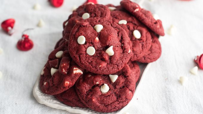 Red Velvet White Chocolate Chip Cookies