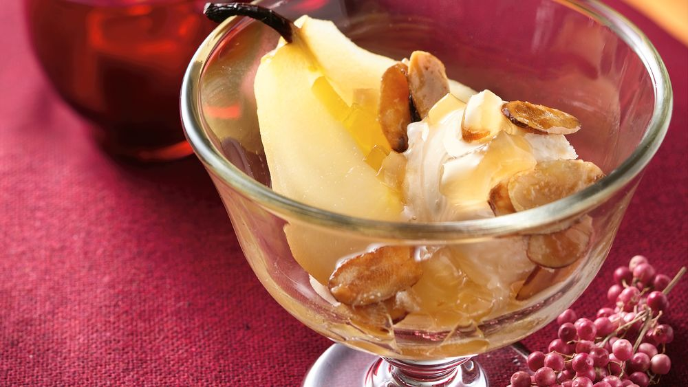 Ginger-Almond Pears