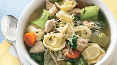 Slow-Cooker Chicken and Vegetable Tortellini Stew
