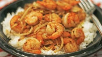 Simple Shrimp Stir-Fry for 1