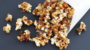 Chocolate Caramel Bacon Popcorn